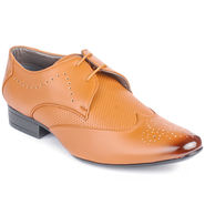 Foot n Style Cordovan Leather Tan Formal Shoes -fs3038