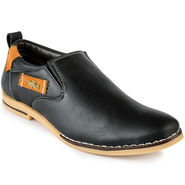 Foot n Style Leather Black Casual Shoes -fs3111