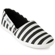 Foot n Style Canvas Black & White Casual Shoes -fs3134