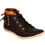 Foot n Style Synthetic Leather Brown Sneaker -fs652