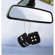 Dice Hanging Car Air Freshener-Black- Pack of 2