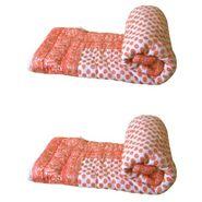 Set of 2 meSleep 100% Cotton Orange Double Bed Quilt-Quilt-10-10
