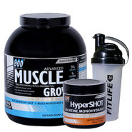 Gxn Advance Muscle Grow, 6 Lb ( 2.27Kgs ) Chocolate + Gxn Hyper Shot 300g