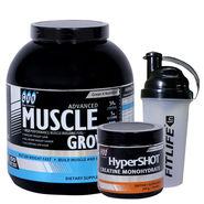 Gxn Advance Muscle Grow 6 Lb ( 2.27Kgs ) Butterscotch + Gxn Hyper Shot 300g