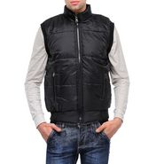 TSX Sleeveless Quilted Bomber Jacket For Men_tbhb_10 - Black