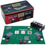 200 Pcs Casino Style Hold'em Poker Game Set with Layout