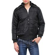 TSX Full Sleeves Quilted Bomber Jacket For Men_tib_14 - Black