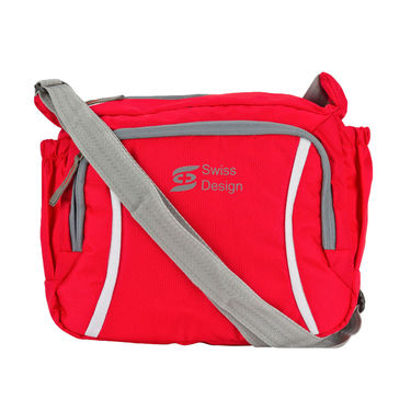 Swiss Design Red Sling Tablet Bag_SDB-5038RD1