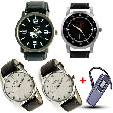 Set of 4 Branded Watches + Bluetooth