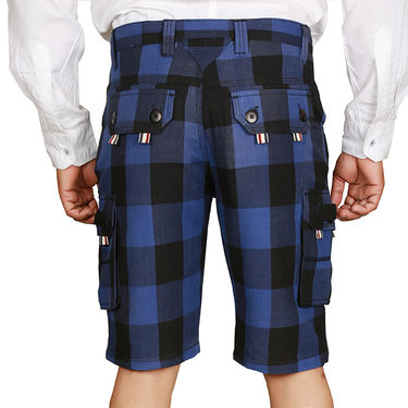 Sparrow Clothings Cotton Cargo Shorts_wjcrsht13 - Blue