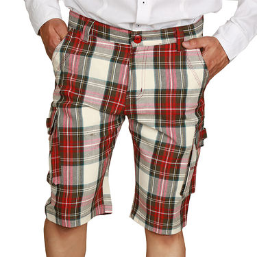 Sparrow Clothings Cotton Cargo Shorts_wjcrsht09 - Multicolor