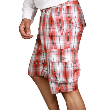 Sparrow Clothings Cotton Cargo Shorts_wjcrsht05 - Pink