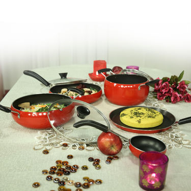 10 Pcs Designer Non Stick Cookware Set