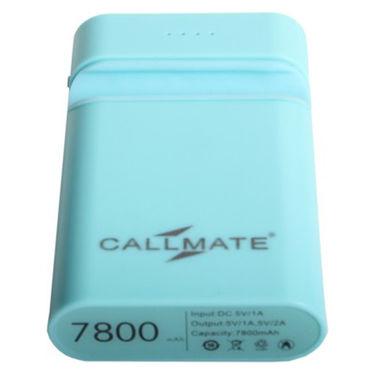 Callmate Power Bank Mobile Holder 7800 mAh - Sky Blue