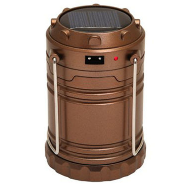 Callmate 3 In 1 Solar Rechargeable LED Lantern with Power Bank 2600 mAh - Brown