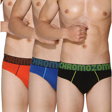 Pack of 3 Chromozome Regular Fit Briefs For Men_10204 - Multicolor