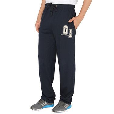 Chromozome Regular Fit Trackpants For Men_10445 - Navy