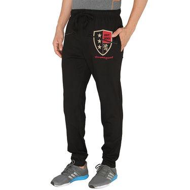 Chromozome Regular Fit Trackpants For Men_10450 - Black