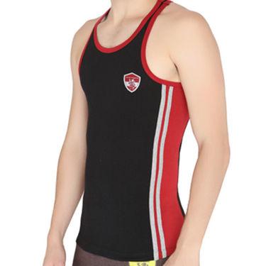 Chromozome Regular Fit Vest For Men_10564 - Black & Red