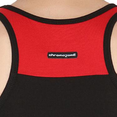 Chromozome Regular Fit Vest For Men_10584 - Black & Red