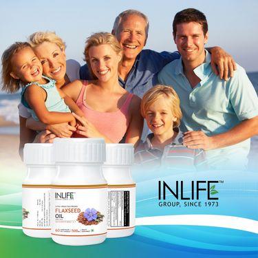 INLIFE Omega 3,6,9 - Flaxseed Oil - 60 Veg. Capsules