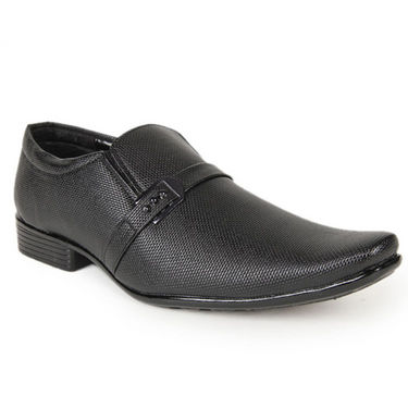 Foot n Style Faux Leather Formal Shoes  FS109 - Black