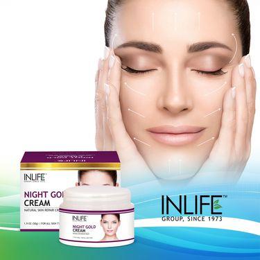 INLIFE Night Gold Cream - 50g