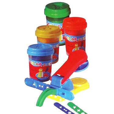 Super Dough Factory Playing Modelling Clay Set for Kids