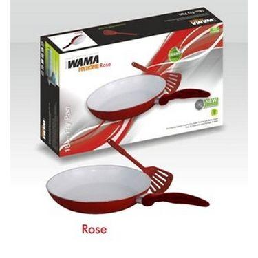 WAMA Ceramic Fry Pan 18cms With Spatula -WMFP 18C
