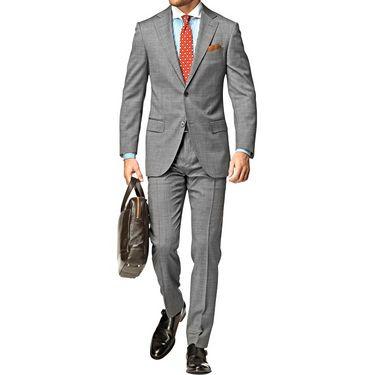Vimal Suit Length (Coat + Trouser) For Men - Grey