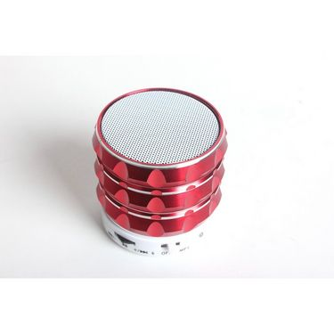 Callmate Gear Bluetooth Speaker with Hands-free Call, Aux & USB/TF Card Reader - Red
