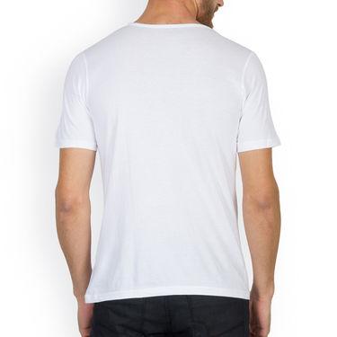 Incynk Half Sleeves Printed Cotton Tshirt For Men_Mht202wht - White