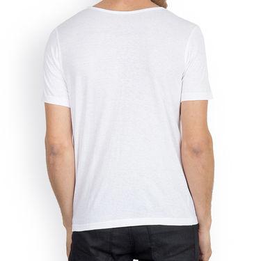 Incynk Half Sleeves Printed Cotton Tshirt For Men_Mht210wht - White