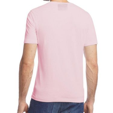 Branded Half Sleeves Printed Cotton T shirt For Men_Afpt - Pink
