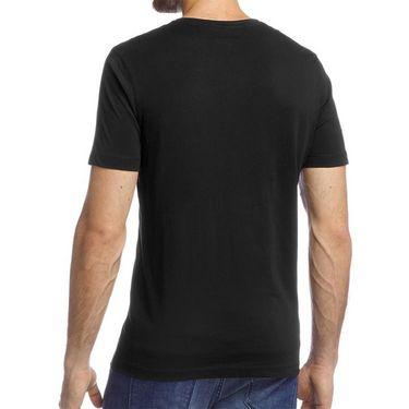 Branded Half Sleeves Printed Cotton T shirt For Men_Afbs - Black