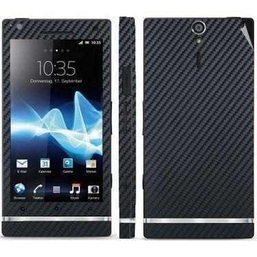 Snooky Mobile Skin Sticker For Sony Xperia S - Black