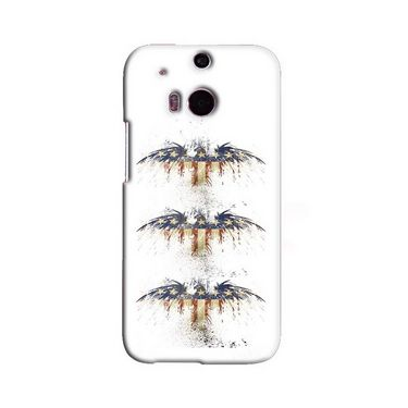 Snooky 19793 Digital Print Hard Back Case Cover For Htc One M8 - White