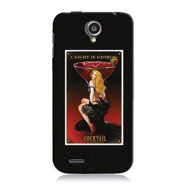 Snooky 19947 Digital Print Hard Back Case Cover For Lenovo A830 - Black