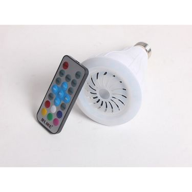 Callmate Smart Music Led Light Bulb Bluetooth Speaker ULK-S900 With Remote Control - White