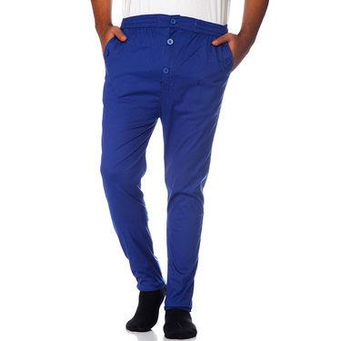 Delhi Seven Cotton Plain Lower For Men_Akdlwr4 - Blue