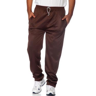 Delhi Seven Polyester Plain Trackpant For Men_Aktpm35 - Brown