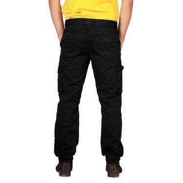 Uber Urban Regular Fit Cotton Cargo For Men_Hypcrgoblk - Black