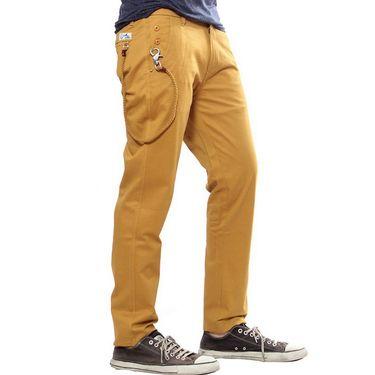 Uber Urban Regular Fit Cotton Trouser For Men_1301504Tab - Mustard
