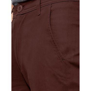 Uber Urban Regular Fit Cotton Trouser For Men_50151621421Cof - Maroon