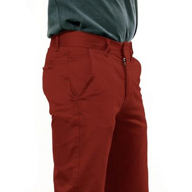 Uber Urban Regular Fit Cotton Chinos For Men_1435Rst - Red