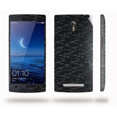 Snooky Mobile Skin Sticker For OPPO Find 7 X9076 20877 - Black