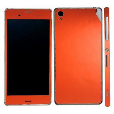 Snooky Mobile Skin Sticker For Sony Xperia Z3 20847 - Orange