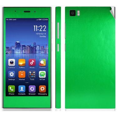 Snooky Mobile Skin Sticker For Xiaomi Mi3 20723 - Green
