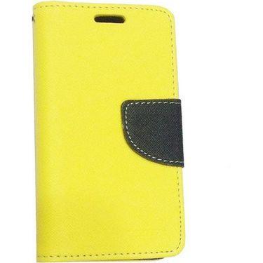 BMS lifestyle Mercury flip cover for Moto E - Yellow