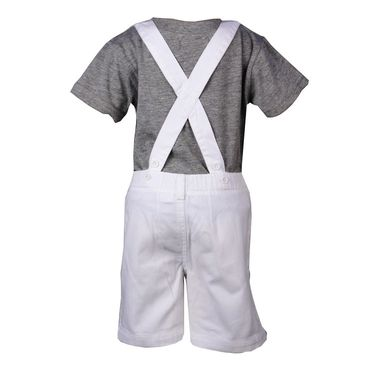 ShopperTree Unusual White Dungaree Set_ST-1414